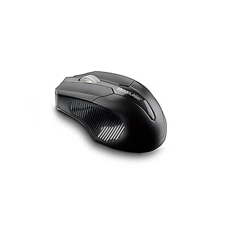 Mouse sem fio 1600 DPI 3 botões preto MO221 Multilaser unid.