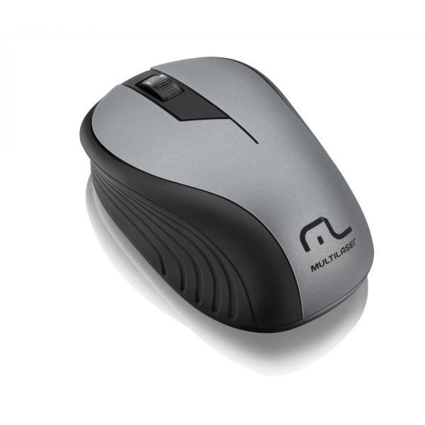 Mouse sem fio 1200 DPI 3 botões preto/grafite Multilaser MO213 unid.