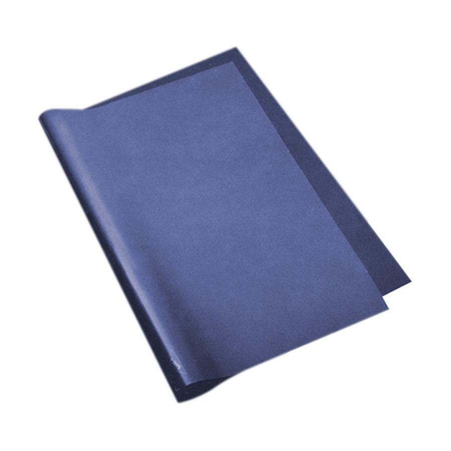 Carbono manual regente ofício azul Printers pacote com 100 folhas