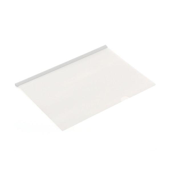 Pasta Canaleta transparente A4 cristal Polibras unid.