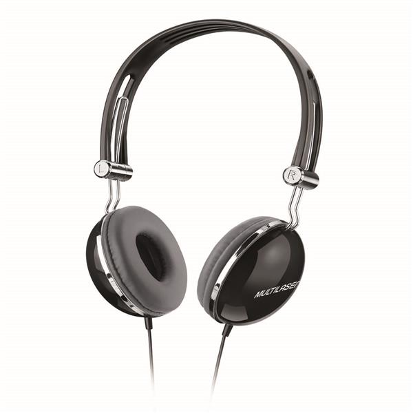Fone de ouvido Headphone Pop preto Multilaser PH053 unid.