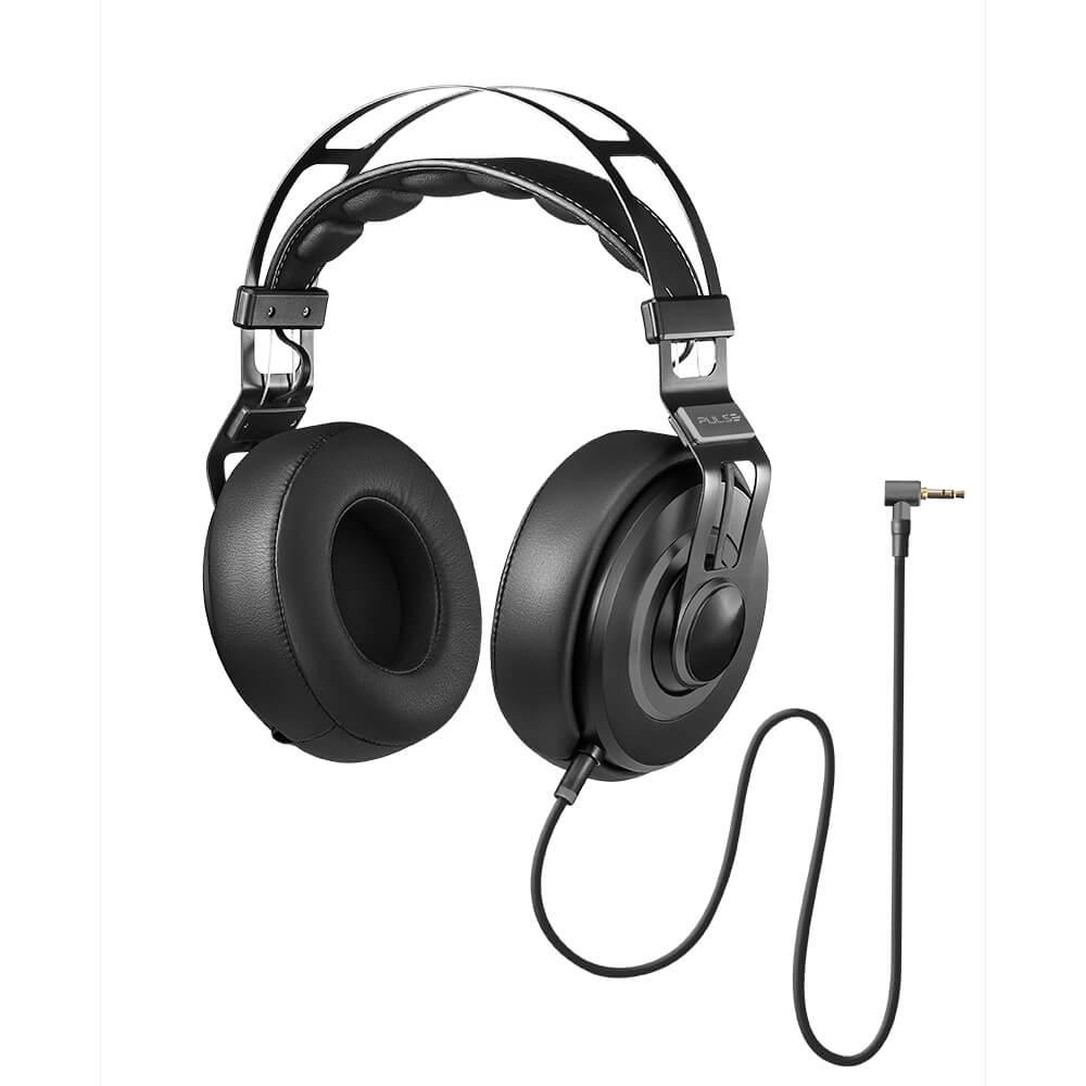 Fone de ouvido Pulse Headphone Premium Wired Large preto Multilaser Ph237 unid.