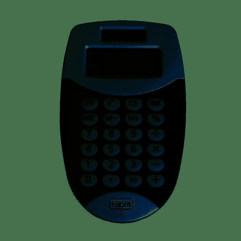Calculadora de bolso 08 dígitos eletrônica preta Tilibra