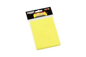 Bloco de anotações 76mm x 102mm 100 folhas amarelo neon BRW unid.