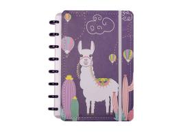 Caderno Inteligente A5 capa dura universitário 60 folhas alpaca Ambras