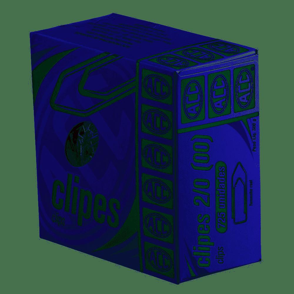 Clips Galvanizado N 2/0 com 725 unid. Acc caixa com 500 G