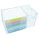 Organizador de mesa c/ bloco lembrete color 956.3 Cristal Acrimet unid.
