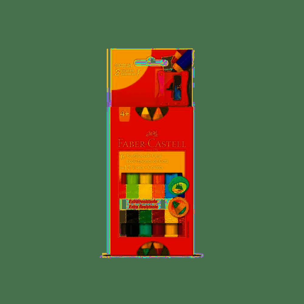 EcoGiz de cera Faber HT141412 caixa 12 unid.