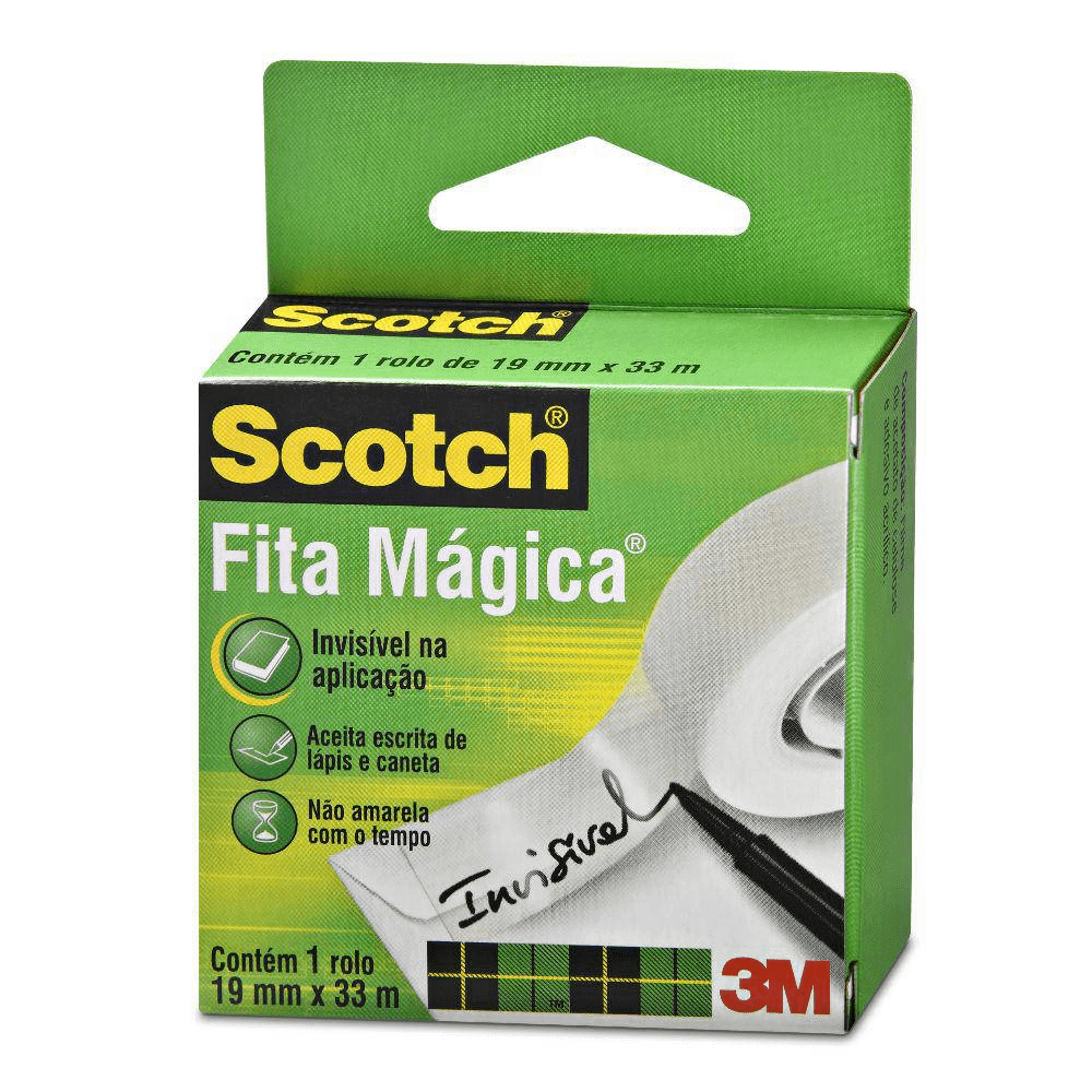 Fita Mágica 19 x 33 810 Scotch sem cortador 3M unid.
