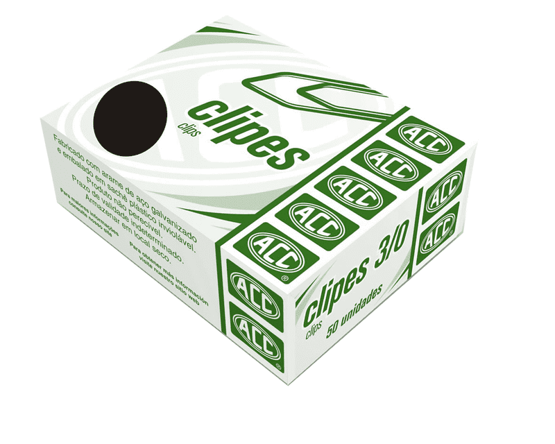 Clips galvanizado N 3/0 acc caixa 50