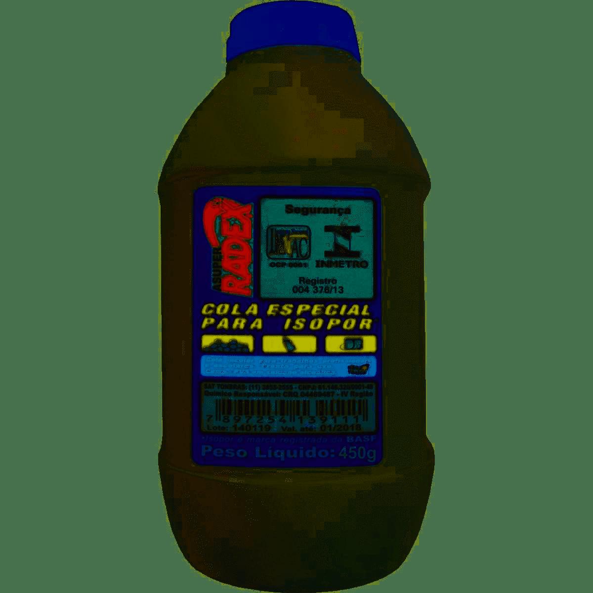Cola para isopor 450 grs 11977 Radex unid.