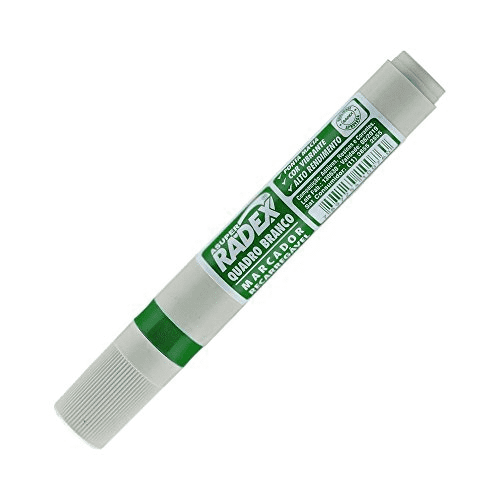 Marcador para quadro branco recarregavel 0760 verde Radex unid