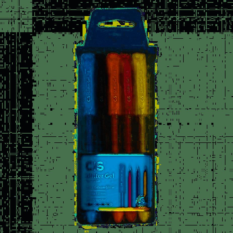 Caneta Gel Glitter 1.0mm cores CIS estojo com 05 unidades