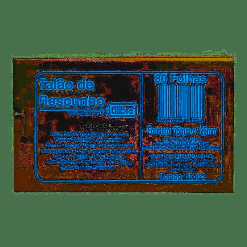 Bloco rascunho c/ serrilha (jb) 80f 15822-4 Tilibra