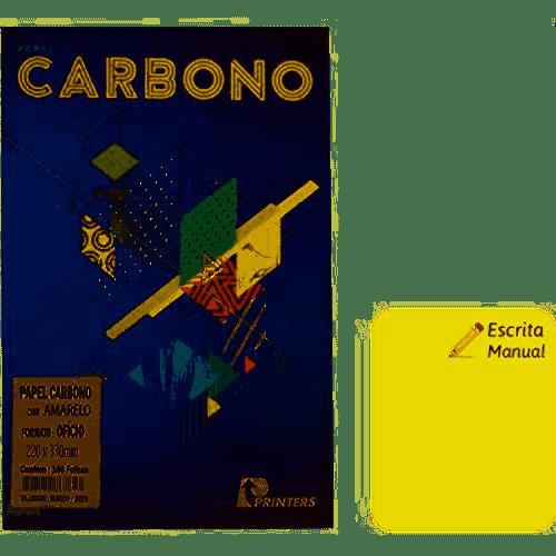 Carbono manual ofício amarelo Printers Franklin pacote com 100 folhas