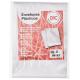 Plástico para pasta catálogo 4 furos 240 x 330 ofício extra grosso DAC pacote 50 unid.