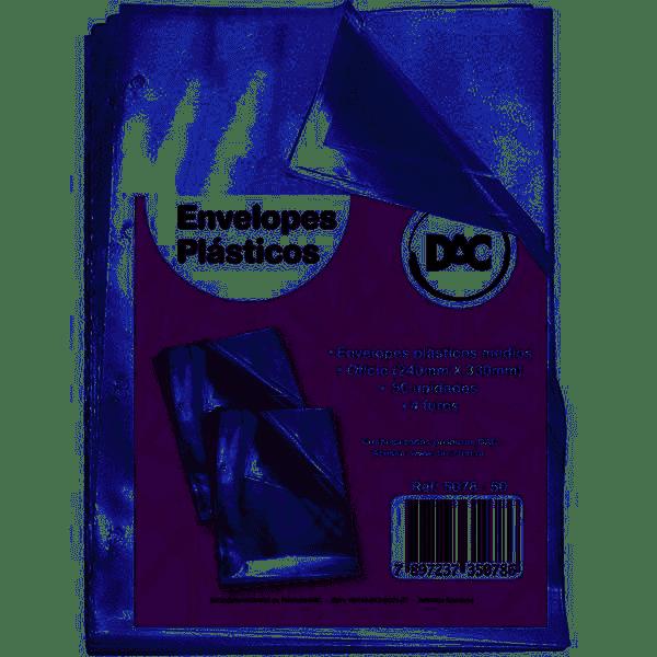 Plástico para pasta catálogo 4 furos 240 x 330 ofício médio DAC pacote 50 unid.