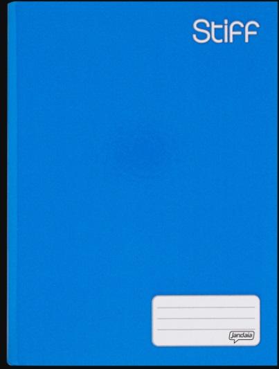 Caderno brochura capa dura tipo ATA 96 folhas 060 azul Jandaia unid.